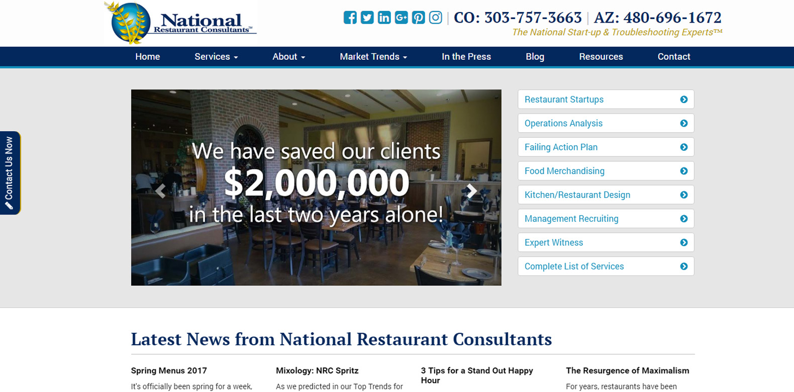 New Upgrade Launched: National Restaurant Consultants
