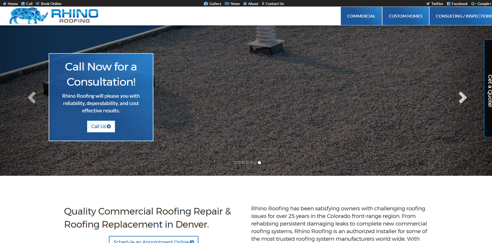 New Website Launch: Rhino Roofing