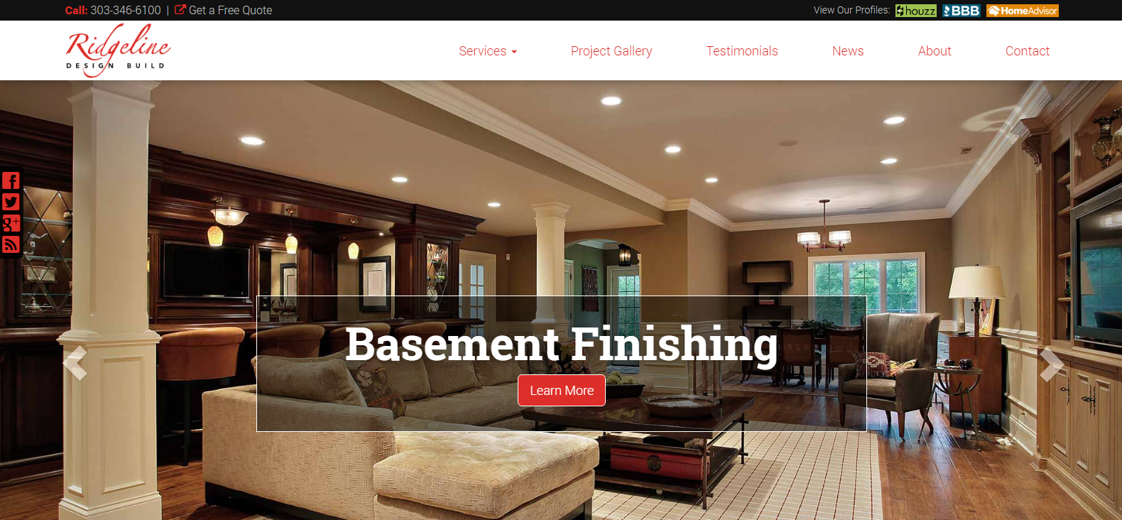 New Website Launched: Ridgeline Remodeling, Inc.