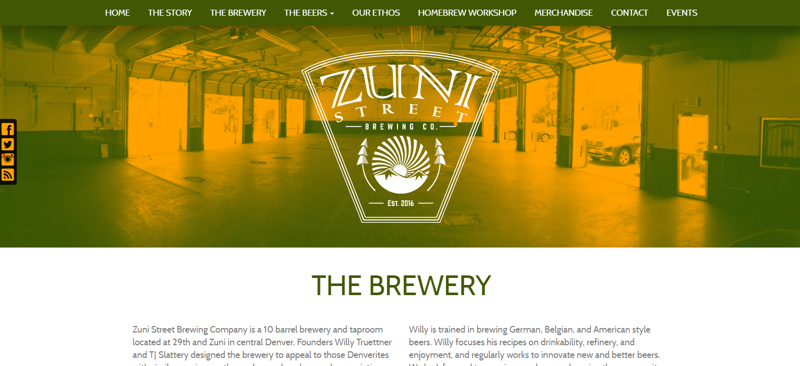 New Website Launched: Zuni Street Brewing Co.