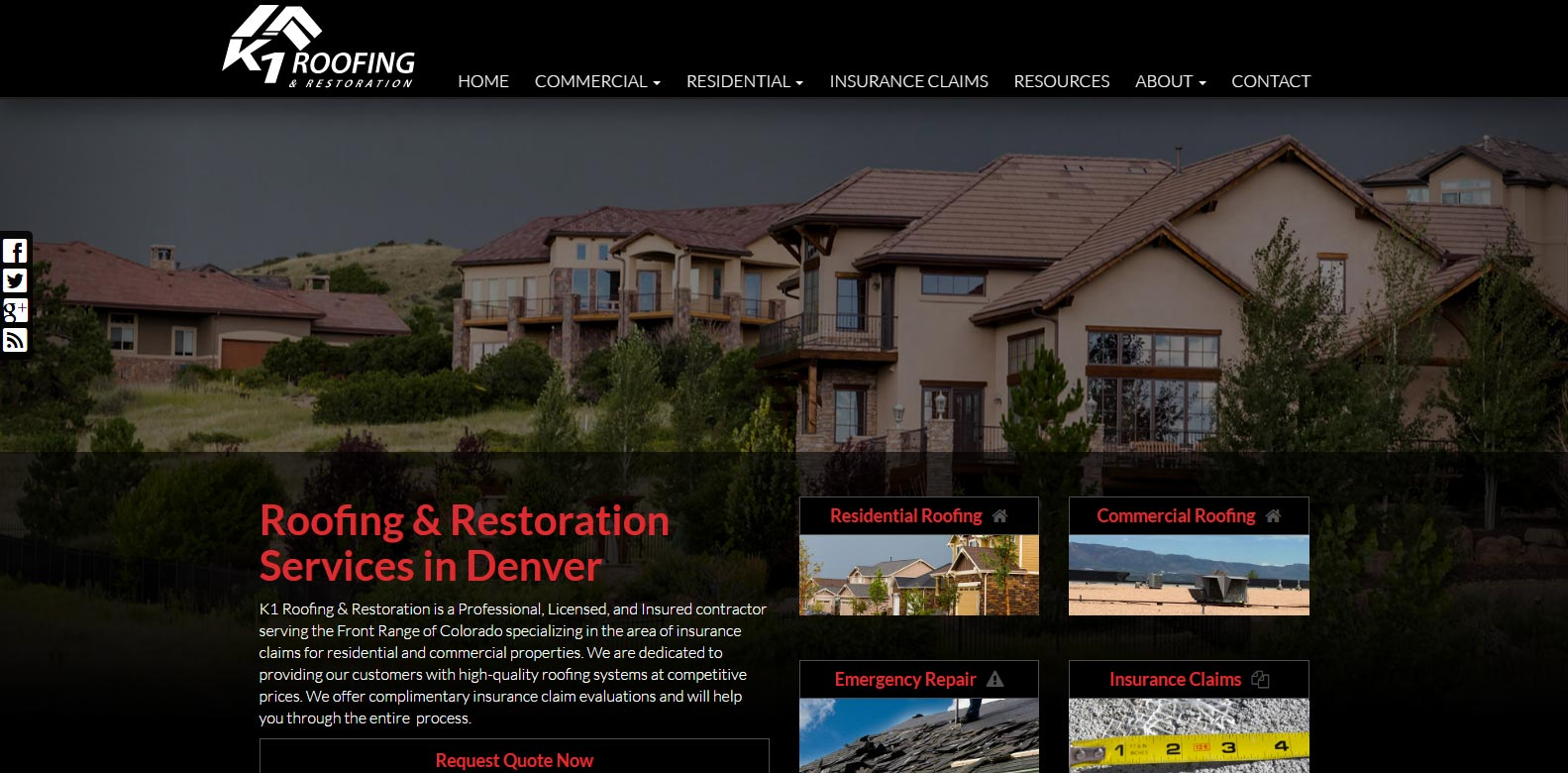 New Website Launched: K1 Roofing & Restoration