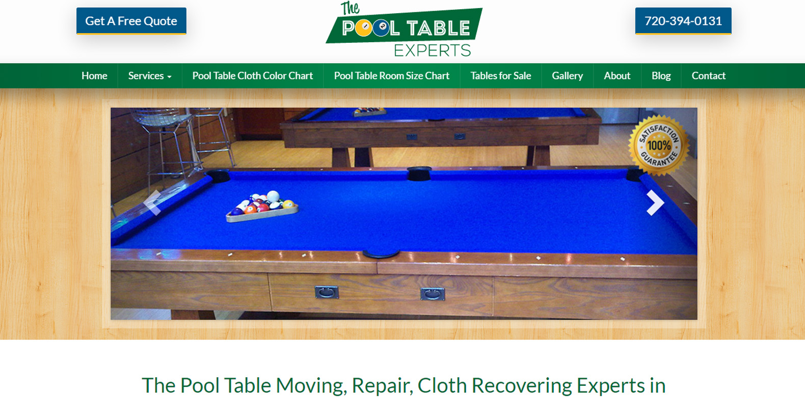 New Upgrade Launched: The Pool Table Experts