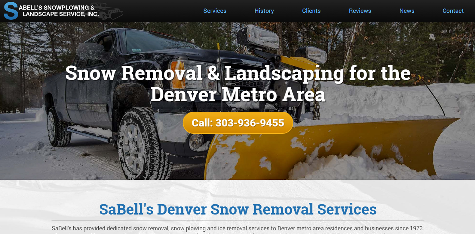 New Website Upgrade: Sabell's Snowplowing & Landscaping Service