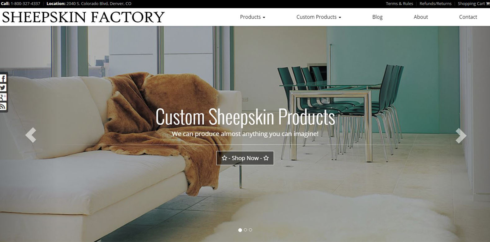 New Website Launched: Sheepskin Factory
